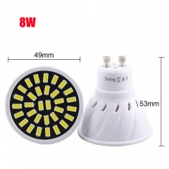 RANPO 8W GU10 32LEDs LED Light Bulb 110V 220V SMD5733 Lamp Spotligh Cool Warm White