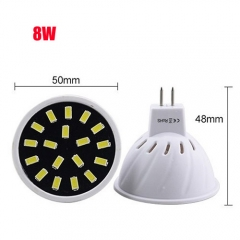 RANPO 8W MR16 32LEDs LED Light Bulb 110V 220V SMD5733 Lamp Spotligh Cool Warm White