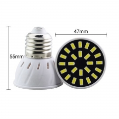RANPO 4W E27 18LEDs LED Light Bulb 110V 220V SMD5733 Lamp Spotligh Cool Warm White