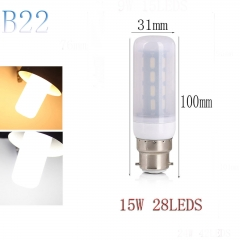 RANPO B22 15W 28LEDs LED Corn Bulb 7030 SMD Light Lamp Milky White Cool Warm White AC 220V