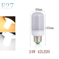 RANPO E27 24W 42LEDs LED Corn Bulb 7030 SMD Light Lamp Milky White Cool Warm White AC 110V 220V