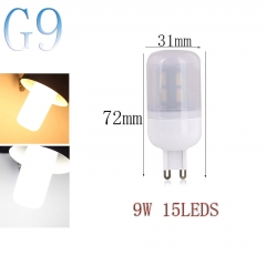 RANPO G9 9W 15LEDs LED Corn Bulb 7030 SMD Light Lamp Milky White Cool Warm White AC 110V 220V