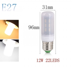 RANPO E27 12W 22LEDs LED Corn Bulb 7030 SMD Light Lamp Milky White Cool Warm White AC 110V 220V