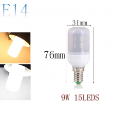 RANPO E14 9W 15LEDs LED Corn Bulb 7030 SMD Light Lamp Milky White Cool Warm White AC 220V