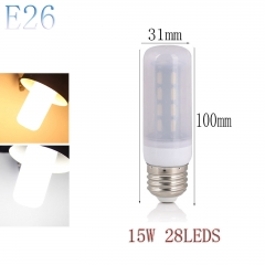 RANPO E26 15W 28LEDs LED Corn Bulb 7030 SMD Light Lamp Milky White Cool Warm White AC 110V