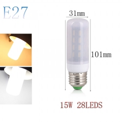 RANPO E27 15W 28LEDs LED Corn Bulb 7030 SMD Light Lamp Milky White Cool Warm White AC 110V 220V