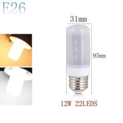 RANPO E26 12W 22LEDs LED Corn Bulb 7030 SMD Light Lamp Milky White Cool Warm White AC 110V