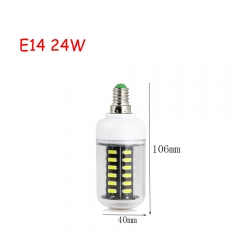 RANPO 24W E14 42leds LED Corn Bulb 7030 SMD Lights Cool Warm White AC 220V Lamp
