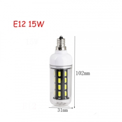 RANPO 15W E12 28leds LED Corn Bulb 7030 SMD Lights Cool Warm White AC 110V Lamp