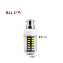 RANPO 24W B22 42leds LED Corn Bulb 7030 SMD Lights Cool Warm White AC 220V Lamp