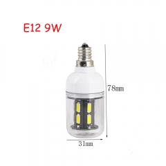 RANPO 9W E12 15leds LED Corn Bulb 7030 SMD Lights Cool Warm White AC 110V Lamp