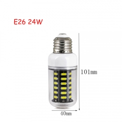 RANPO 24W E26 42leds LED Corn Bulb 7030 SMD Lights Cool Warm White AC 110V Lamp