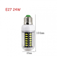 RANPO 24W E27 42leds LED Corn Bulb 7030 SMD Lights Cool Warm White AC 110V 220V Lamp