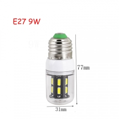 9W E27 15leds LED Corn Bulb 7030 SMD Lights Cool Warm White AC 110V 220V Lamp