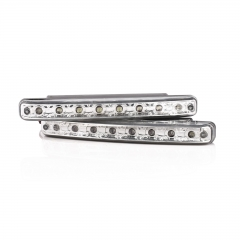 2PCS Super Bright White 8 LED DRL Driving Car Daytime Running Light Head Lamp
