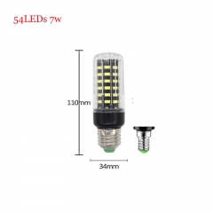 RANPO 7W E14 SMD 5736 Bombillas LED Bulb Lamparas LED Light 54LEDs Cool Warm White AC 85-265V