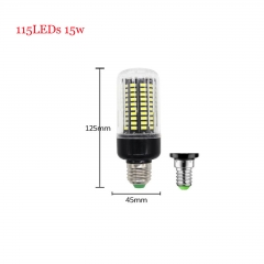 RANPO 15W E14 SMD 5736 Bombillas LED Bulb Lamparas LED Light 115LEDs Cool Warm White AC 85-265V