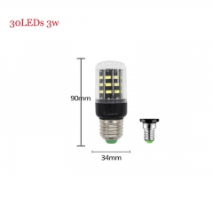 RANPO 3W E14 SMD 5736 Bombillas LED Bulb Lamparas LED Light 30LEDs Cool Warm White AC 85-265V