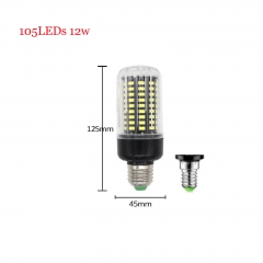 RANPO 12W E14 SMD 5736 Bombillas LED Bulb Lamparas LED Light 105LEDs Cool Warm White AC 85-265V