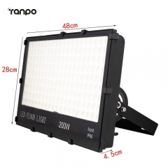 RANPO 200W IP65 Waterproof LED Flood Light Bulb 3030 SMD White Spotlight Lamp Cool Warm Natural White