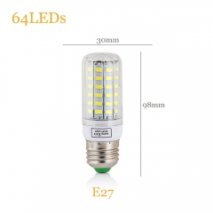 20W E27 LED Lights 220 110V 64LEDs Smart IC Power 5730 SMD Corn Lamp