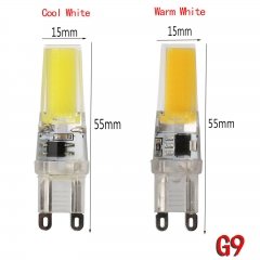 Ranpo 8W G9 2508 COB LED Lights Crystal Silicone Bulb Lamps Cool/Warm White AC 220V