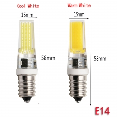 Ranpo 8W E14 2508 COB LED Lights Crystal Silicone Bulb Lamps Cool/Warm White AC 220V