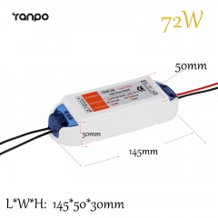 Ranpo 72W 6.3A LED Driver Adapter AC 90-240V To DC 12V Transformer Power Supply For LED Strip