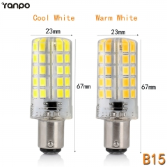 RANPO B15 10W Dimmable LED Corn Bulb Silicone Crystal Light Lamp Cool Warm White 110V 220V