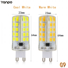 RANPO G9 10W Dimmable LED Corn Bulb Silicone Crystal Light Lamp Cool Warm White 110V 220V