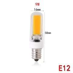 RANPO E12 9W Dimmable LED COB Silicone Crystal Corn Bulb SpotLight Lamp Cool Warm White 110V