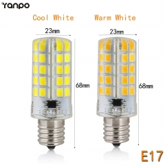 RANPO E17 10W Dimmable LED Corn Bulb Silicone Crystal Light Lamp Cool Warm White 110V 220V