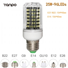 RANPO 25W E27 96leds LED Corn Bulb 4014 SMD Light Cool Warm White Lamp 110V 220V