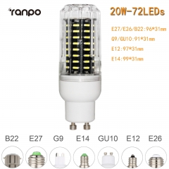 RANPO 20W GU10 72leds LED Corn Bulb 4014 SMD Light Cool Warm White Lamp 110V 220V