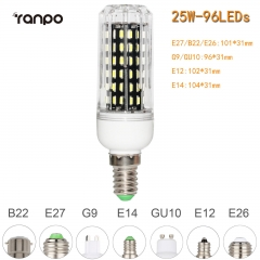 RANPO 25W E14 96leds LED Corn Bulb 4014 SMD Light Cool Warm White Lamp 220V
