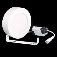 RANPO 6W Round LED Panel Light Surface Mounted Ceiling Downlight Lamp AC 85-265V