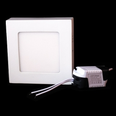 RANPO 6W Square LED Panel Light Surface Mounted Ceiling Downlight Lamp AC 85-265V
