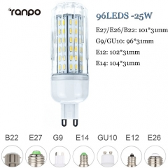 RANPO 25W E26 LED Corn Bulb 4014 SMD Light Lamp Bright Cool Warm White 110V