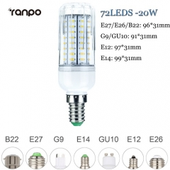 RANPO 20W E14 LED Corn Bulb 4014 SMD Light Lamp Bright Cool Warm White AC 220V