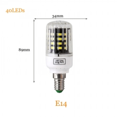 RANPO 7W E14 5736 SMD 40 LEDs LED Corn Light No Flicker Constant Current Lamp Bulb AC 85-265V