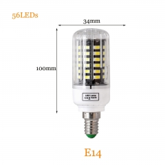 RANPO 12W E14 5736 SMD 56 LEDs LED Corn Light No Flicker Constant Current Lamp Bulb AC 85-265V