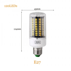 RANPO 25W E27 5736 SMD 120 LEDs LED Corn Light No Flicker Constant Current Lamp Bulb AC 85-265V