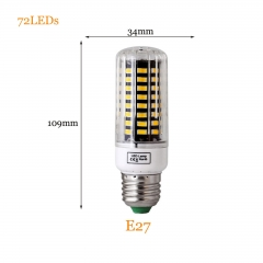 RANPO 15W E27 5736 SMD 72 LEDs LED Corn Light No Flicker Constant Current Lamp Bulb AC 85-265V