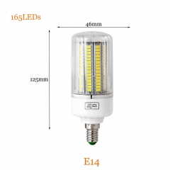 RANPO 15W E14 5736 SMD 165 Leds LED Corn Light Bulb Lamp Spotlights AC 110V 220V
