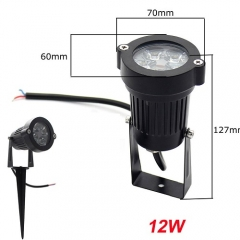 Ranpo 12W Waterproof LED Flood Light Spotlight Bulb Landscape Garden Yard Lamp Natural White DC 12V AC 85-265V