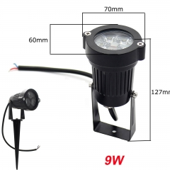 RANPO 9W Waterproof LED Flood Light Spotlight Bulb Landscape Garden Yard Lamp Natural White DC 12V AC 85-265V