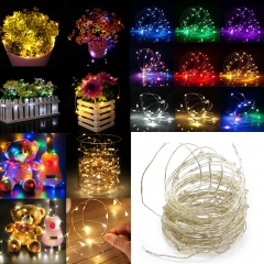 5M LED String Copper Wire Fairy Lights Battery USB 12V Xmas Party Fairy Decor Lamp