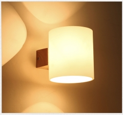 RANPO Modern Wooden Wall Lamp E14 Base Sconce Hallway Bedroom Home Indoor Decor Lights