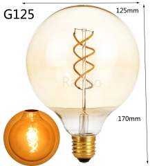 RANPO G125 LED Bullb E27 4W LED Light Bulb Lamp Vintage Retro Filament Edison Antique Dimmable Bulbs 220V