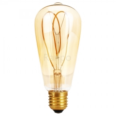 RANPO ST64 E27 4W LED Light Bulb Lamp Vintage Retro Filament Edison Antique Dimmable Bulbs 220V